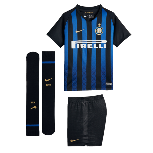Inter Milan Soccer Jerseys 2018-19 Home Football Kits (Shirt + Shorts + Socks)