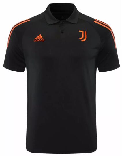 Juventus Polo Jerseys 2020-21 Black Football Shirts