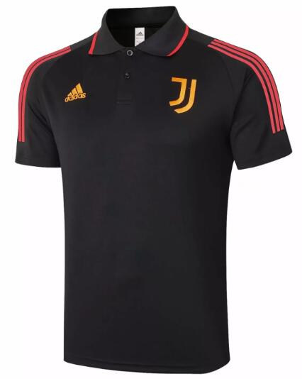 Juventus Polo Jerseys 2020-21 Black Pink Football Shirts
