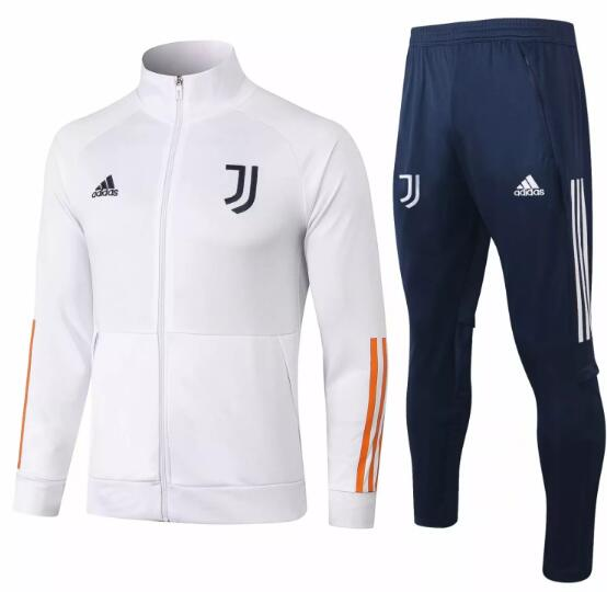 Juventus Training Kits 2020-21 White Jacket + Pants