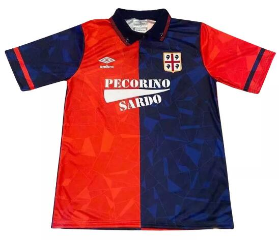 Cagliari Calcio Retro Soccer Jerseys 1991-92 Home Football Shirts