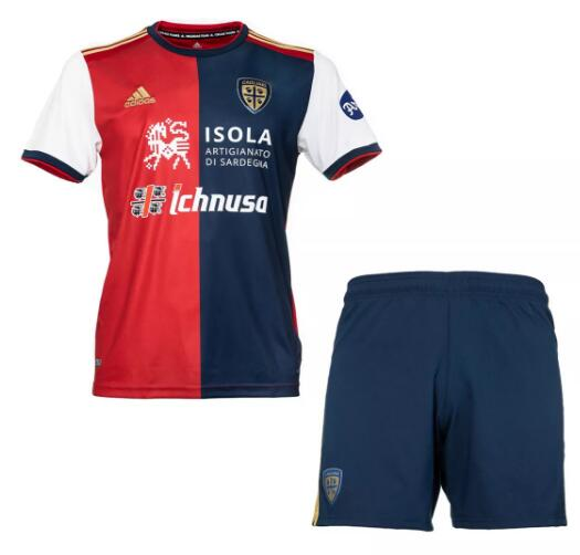 Cagliari Calcio Kids Soccer Jersey 2020-21 Home Football Kits