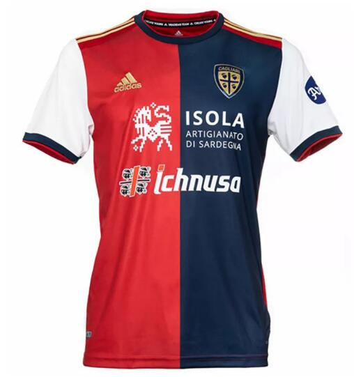 Cagliari Calcio Soccer Jerseys 2020-21 Home Football Shirts