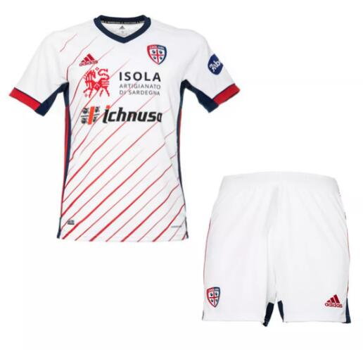 Cagliari Calcio Kids Soccer Jersey 2020-21 Away Football Kits