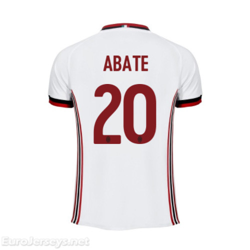AC Milan Away Best Wholesale Football Kit 2017-18 Abate #20 Cheap Soccer Jerseys