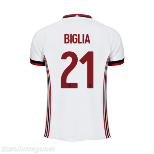 AC Milan Away Best Wholesale Football Kit 2017-18 Biglia #21 Cheap Soccer Jerseys