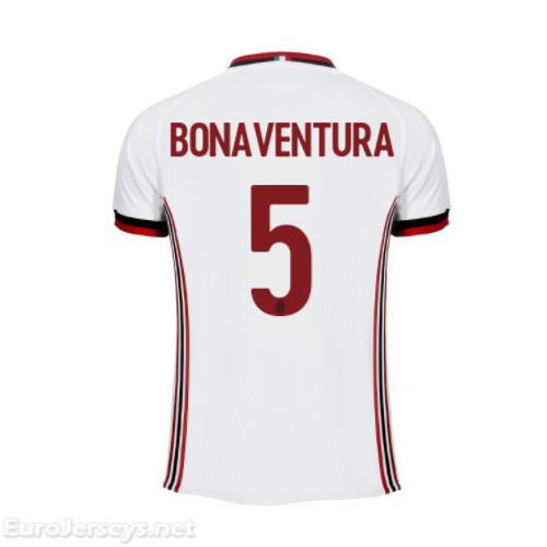 AC Milan Away Best Wholesale Football Kit 2017-18 Bonaventura #5 Cheap Soccer Jerseys