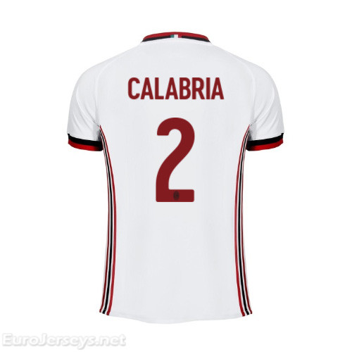 AC Milan Away Best Wholesale Football Kit 2017-18 Calabria #2 Cheap Soccer Jerseys
