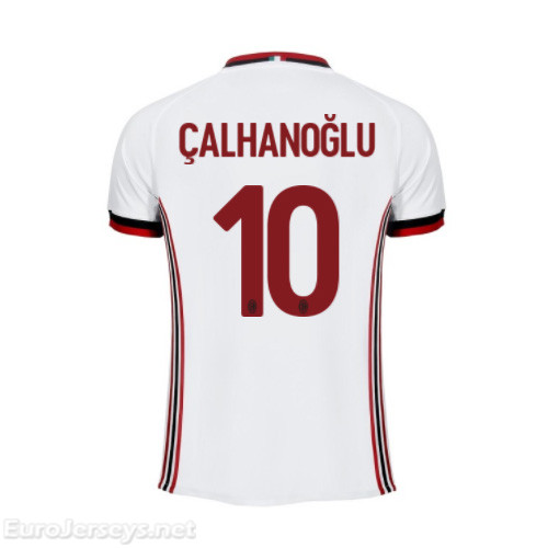 AC Milan Away Best Wholesale Football Kit 2017-18 Calhanoglu #10 Cheap Soccer Jerseys