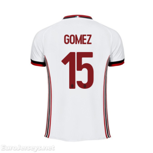 AC Milan Away Best Wholesale Football Kit 2017-18 Gomez #15 Cheap Soccer Jerseys