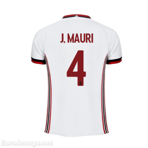 AC Milan Away Best Wholesale Football Kit 2017-18 J.Mauri #4 Cheap Soccer Jerseys