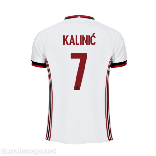 AC Milan Away Best Wholesale Football Kit 2017-18 Kalinic #7 Cheap Soccer Jerseys