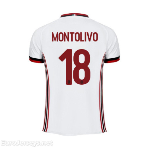AC Milan Away Best Wholesale Football Kit 2017-18 Montolivo #18 Cheap Soccer Jerseys