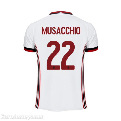 AC Milan Away Best Wholesale Football Kit 2017-18 Musacchio #22 Cheap Soccer Jerseys