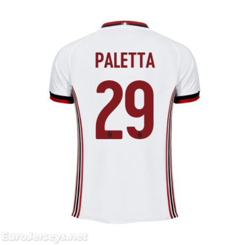 AC Milan Away Best Wholesale Football Kit 2017-18 Paletta #29 Cheap Soccer Jerseys