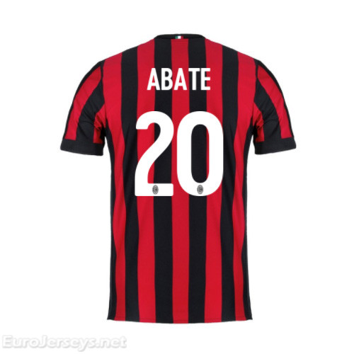 AC Milan Home Best Wholesale Football Kit 2017-18 Abate #20 Cheap Soccer Jerseys