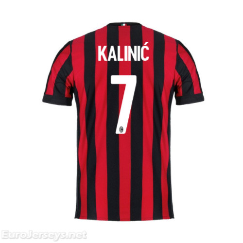 AC Milan Home Best Wholesale Football Kit 2017-18 Kalinic #7 Cheap Soccer Jerseys