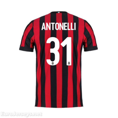 AC Milan Home Best Wholesale Football Kit 2017-18 Antonelli #31 Cheap Soccer Jerseys