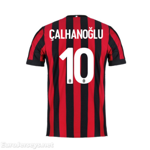 AC Milan Home Best Wholesale Football Kit 2017-18 Calhanoglu #10 Cheap Soccer Jerseys