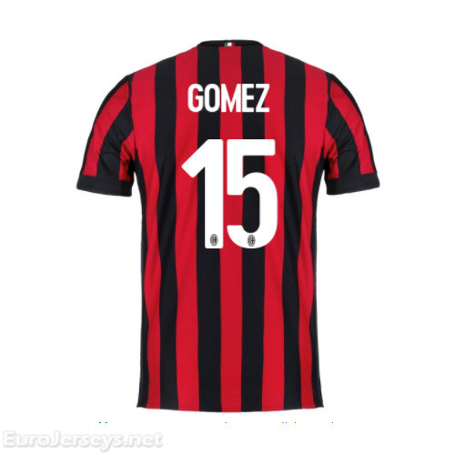 AC Milan Home Best Wholesale Football Kit 2017-18 Gomez #15 Cheap Soccer Jerseys