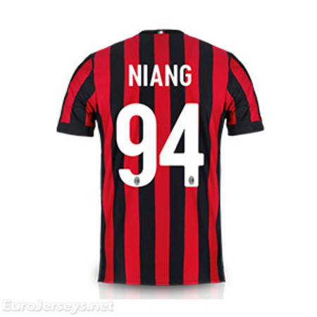 AC Milan Home Best Wholesale Football Kit 2017-18 Niang #94 Cheap Soccer Jerseys