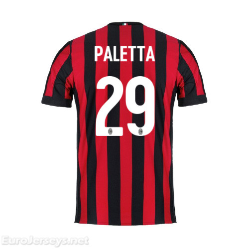 AC Milan Home Best Wholesale Football Kit 2017-18 Paletta #29 Cheap Soccer Jerseys