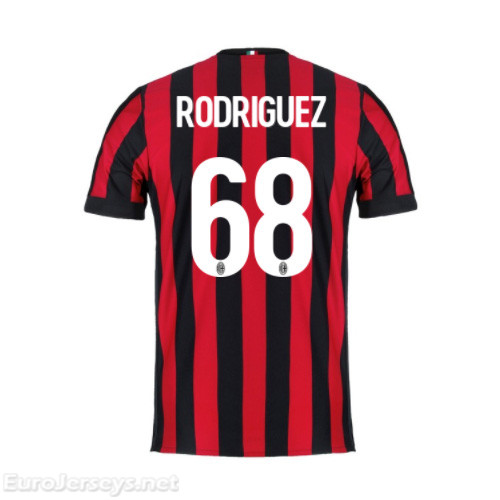 AC Milan Home Best Wholesale Football Kit 2017-18 Rodriguez #68 Cheap Soccer Jerseys