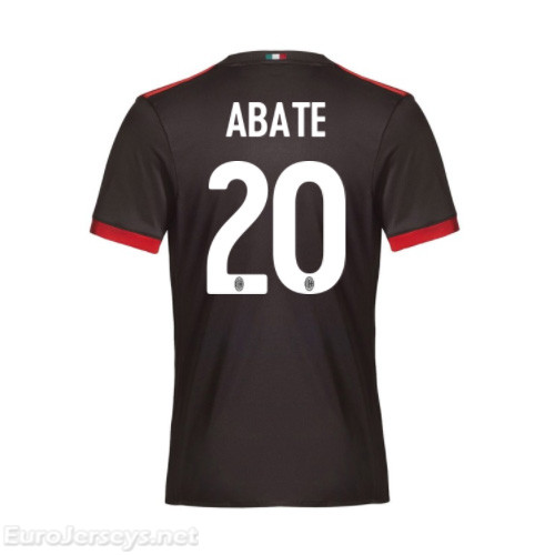 AC Milan 3rd Best Wholesale Football Kit 2017-18 Abate #20 Cheap Soccer Jerseys