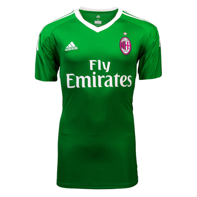 AC Milan Best Wholesale Football Kit 2017-18 Green Goalkeeper Cheap Soccer Jerseys