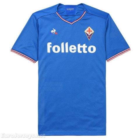 Fiorentina 2017-18 Away Blue Shirt Soccer Jersey