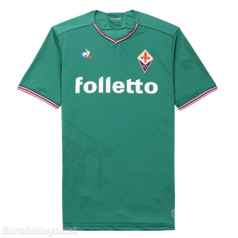 Fiorentina 2017-18 Away Green Shirt Soccer Jersey