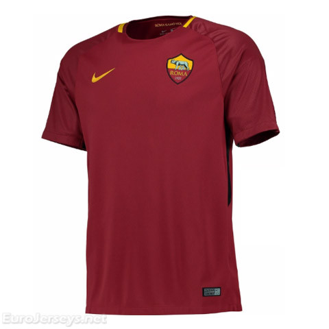 AS Roma 2017-18 Home Shirt Soccer Jersey