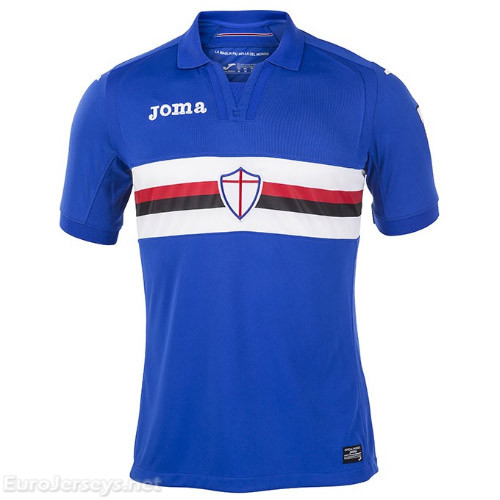 Sampdoria Home Best Wholesale Football Kit 2017-18 Cheap Soccer Jerseys