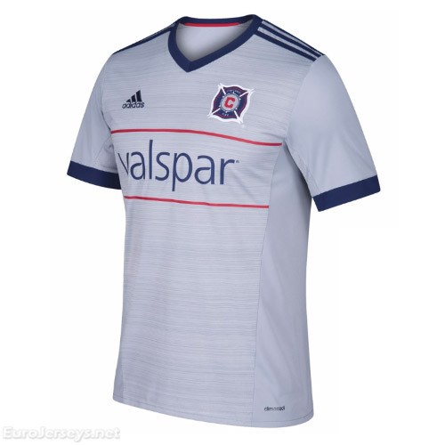Chicago Fire 2017-18 Away Shirt Soccer Jersey