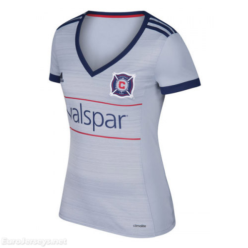 Chicago Fire 2017-18 Away Women's Shirt Soccer Jersey