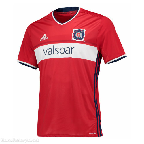 Chicago Fire 2017-18 Home Shirt Soccer Jersey