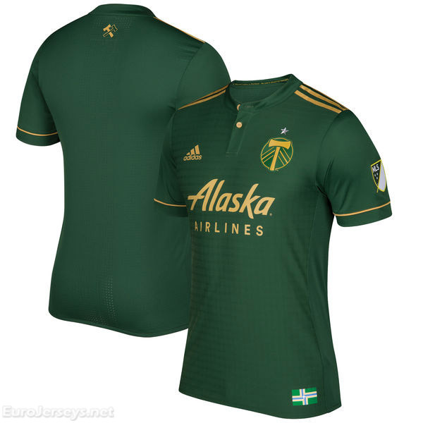 Portland Timbers 2017-18 Home Shirt Soccer Jersey