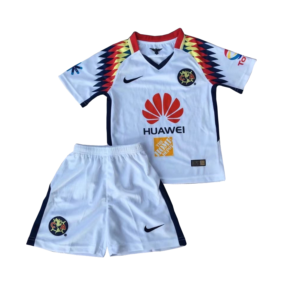 Club America Kids Soccer Jersey 2017-18 Away Football Kit Children Shirt And Shorts