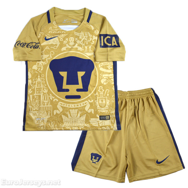 UNAM 2016-17 Home Kids Kit Children Shirt And Shorts