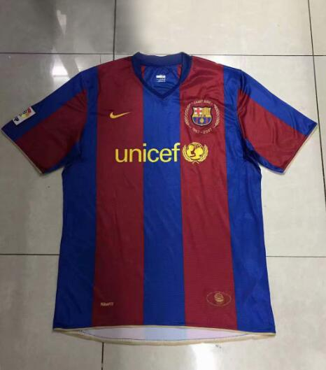 312f7c671 Barcelona Retro Soccer Jerseys 2007-2008 Home Football Shirts
