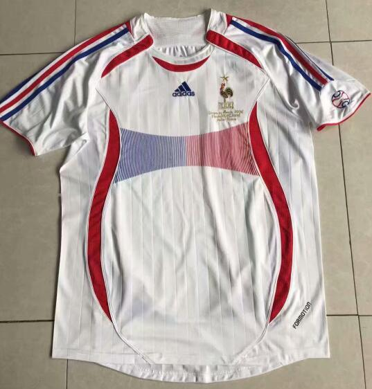 France Retro Soccer Jerseys 2006 Away Football Shirts