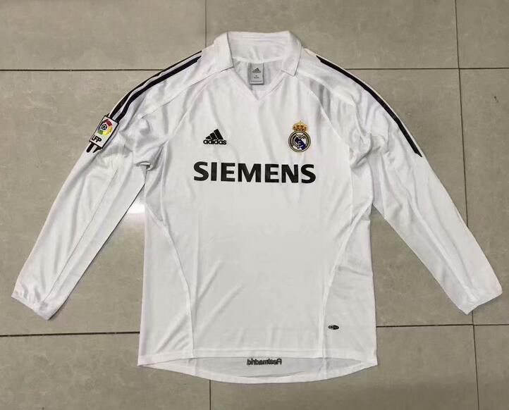 Real Madrid Retro Long Sleeve Soccer Jerseys 2006 Home Football Shirts