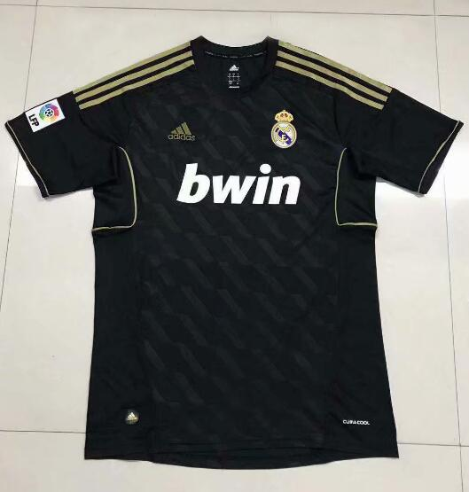 Real Madrid 2012 Black Away Retro Cheap Soccer Jerseys