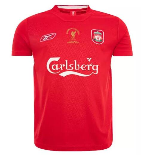 Liverpool 2005 UEFA Champion Home Retro Cheap Soccer Jerseys