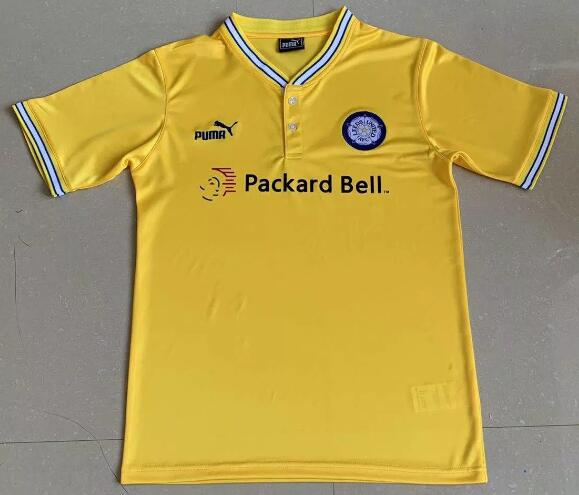 Leeds United Retro Soccer Jerseys 1990 Away Football Shirts