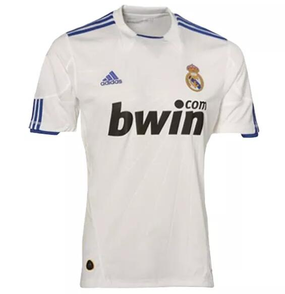 Real Madrid Retro Soccer Jerseys 2010-11 Home Football Shirts
