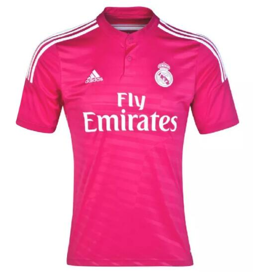 Real Madrid Retro Soccer Jerseys 2014-15 Away Pink Football Shirts