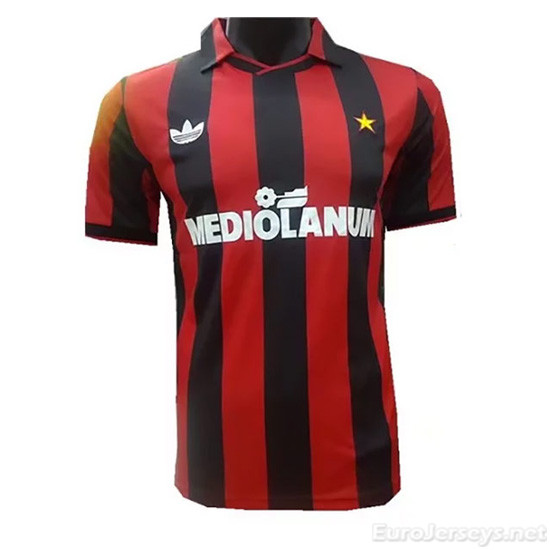 AC Milan 91-92 Home Retro Cheap Soccer Jerseys