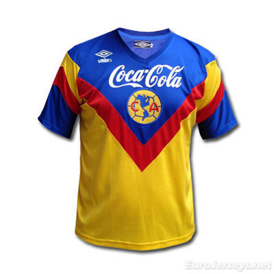 Club America 93-94 Home Yellow Retro Shirt Soccer Jersey
