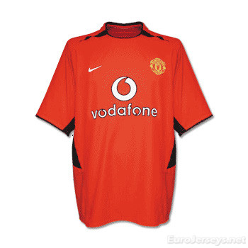 Manchester United 02-03 Home Retro Shirt Soccer Jersey